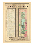 Central Park Development Composition 1815-1867, New York, United States, 1867 Impressão giclée