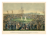 1860, Boxing Match International Contest Between Heenan and Sayers at Farnborough Reproduction procédé giclée