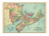 1906, Canada, New Brunswick, Nova Scotia, Prince Edward Island, North America, New Brunswick Giclée-Druck