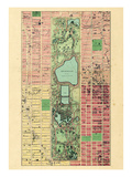 1867, New York City, Central Park Composite, New York, United States Impressão giclée
