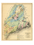 1884, Maine Geological Map, Maine, United States Giclee Print