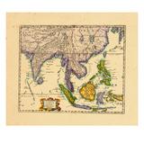 1659, Cambodia, India, Laos, Malaysia, Philippines, Asia Impressão giclée