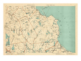 1891, Plymouth, Barstable, Halifax, Kingston, Sandwich, Acushnet, Massachusetts, United States Giclee-trykk