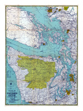 1940, Puget Sound Country 1940c, Washington, United States Giclee Print