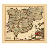 1680, antike Landkarte von Portugal, Spanien Giclée-Druck