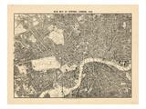 1892, centrala London, Storbritannien Gicléetryck
