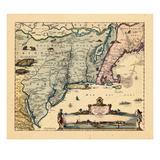 1656, Massachusetts, New York, Nova Scotia, Virginia Giclee-trykk