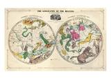 1835, Erdkunde des Himmels, nördlich und südlich Giclée-Druck