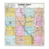 1900, Sanborn County Map, South Dakota, United States Giclee-trykk