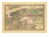 1870, New York and Brooklyn Giclee-trykk
