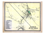 1869, Essex Junction Town, Vermont, United States Giclee-trykk