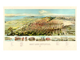 1891, Salt Lake City Bird's Eye View, Utah, United States Giclee-trykk