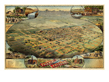 1885, Phoenix Bird's Eye View, Arizona, United States Giclee-trykk