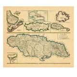 1721, Jamaica, West Indies Impressão giclée