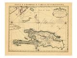 1722, Dominican Republic, Haiti Impressão giclée