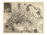 1606, Virginia and Jamestown Described by Captain John Smith, Virginia Giclee-trykk