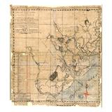 1771, antike Landkarte von Beaufort County, von Savannah Sund bis St. Helena's Sund, South Carolina, Vereinigte Staaten, USA Giclée-Druck