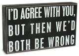 Both Be Wrong Box Sign 木製看板