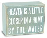 Heaven is a Little Closer Box Sign 木製看板