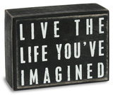 Life You've Imagined Box Sign 木製看板
