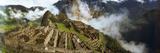 Ruins of Buildings at an Archaeological Site, Inca Ruins, Machu Picchu, Cusco Region, Peru Lámina fotográfica por Panoramic Images,