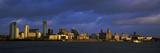 Staden vid vattnet, Liverpool, River Mersey, Merseyside, England, 2010 Fotoprint
