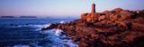 Lighthouse on the Coast, Ploumanach Lighthouse, Cote De Granit Rose, Cotes-D'Armor, Brittany, Fr... 写真プリント
