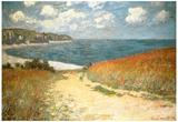 Path Through the Corn at Pourville Plakater af Claude Monet