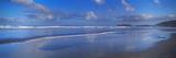Beach at Sunrise, Gwithian Beach, Godrevy Lighthouse, Cornwall, England Lámina fotográfica por Panoramic Images,