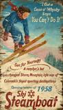 Steamboat Springs Vintage Wood Sign