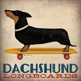 Dachshund Longboards Poster van Ryan Fowler