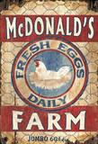 Egg Farm Vintage Wood Sign