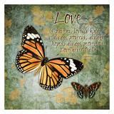 Un Amour de papillon Posters par Carole Stevens