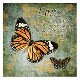 Amore con farfalle Poster di Carole Stevens