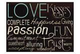 Simple Speak Love 1 Poster von Grace Pullen