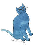 "Cat From ""25 Cats Named Sam and One Blue Pussy"", c. 1954 (One Blue Pussy) 高画質プリント : アンディ・ウォーホル"