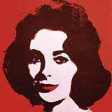 Liz, 1963 (Red) Prints by Andy Warhol