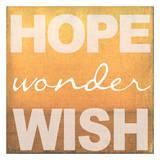 Hope Wonder Wish Orange Kunstdrucke von Taylor Greene