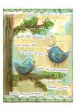 Birds Blue 2 Poster von Erin Butson