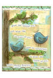 Birds Blue 2 Posters by Erin Butson