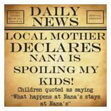Daily News - Nana Pósters por Taylor Greene
