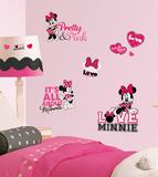Mickey & Friends - Minnie Loves Pink Peel & Stick Wall Decals Vinilo decorativo