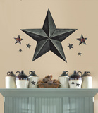 Barn Star Peel & Stick Giant Wal Decal - Slate Autocollant mural