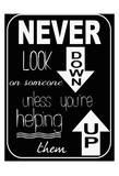 Never Look Down Poster von Taylor Greene