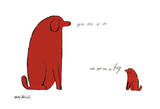 Je bent zo klein, en jij bent zo groot, Grote en kleine hond met Engelse tekst: You Are So Little and You Are So Big, ca. 1958 Kunst van Andy Warhol