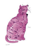 "Cat From ""25 Cats Named Sam and One Blue Pussy"", c.1954 (Pink Sam) Art by Andy Warhol"