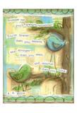 Birds Blue 1 Poster di Diane Stimson