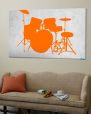 Orange Drum Set Prints by  NaxArt