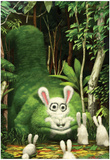 Big Bad Bunny Eater Pôsteres por Bobby Chiu
