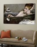The Bath, circa 1867 Posters av Alfred Georges Stevens